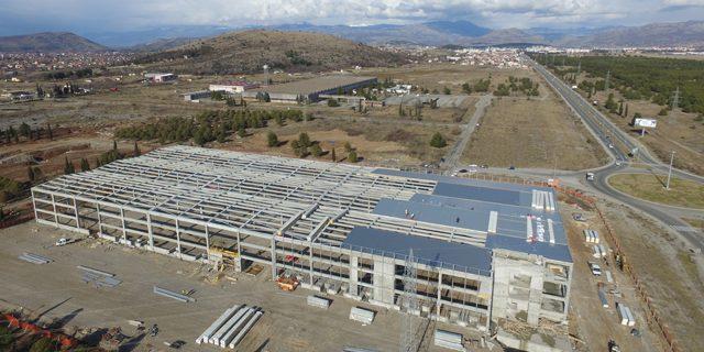 Firma Širbegović završila montažu konstrukcije za distributivno logistički centar