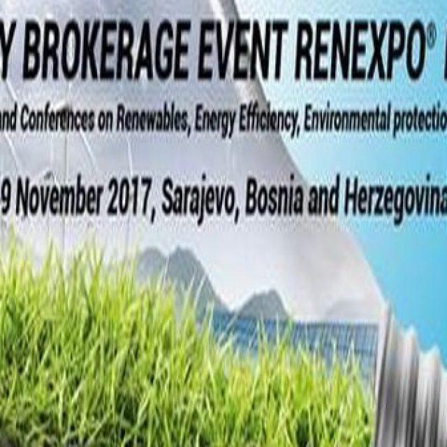 """Poziv za učešće na poslovnim susretima """"REENERGY BROKARAGE EVENT  RENEXPO BIH 2017"""""""